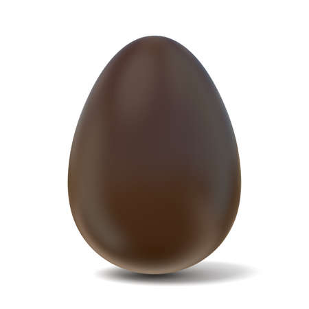 chocolate egg: Chocolate egg. 3D render illustration isolated on white background Stock Photo