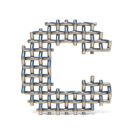 Metalldrahtgeflecht-Guss Nr. 9 NEUN 3D übertragen Die Illustration ...