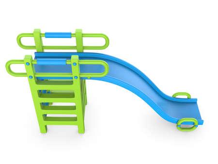 Children slide 3D render illustration isolated on white background