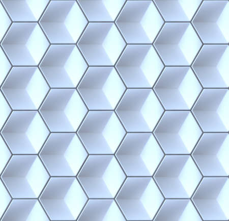 array: Seamles hexagonal abstract background 3D render illustration