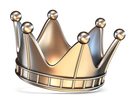 Crown 3D render illustration isolated on white background Stock Photo