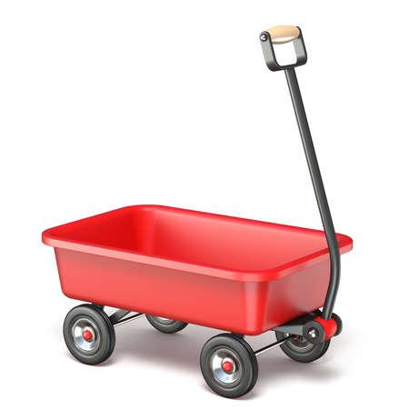 Toy mini wagon 3D render illustration isolated on white background Stock Photo