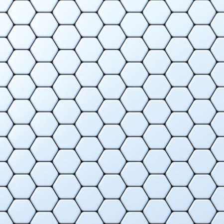 Hexagonal grid 3D render illustration