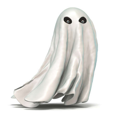 Ghost 3D rendering illustration isolated on white background