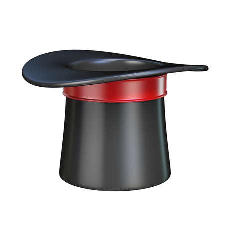 Magic hat 3D rendering illustration isolated on white background Stock Photo