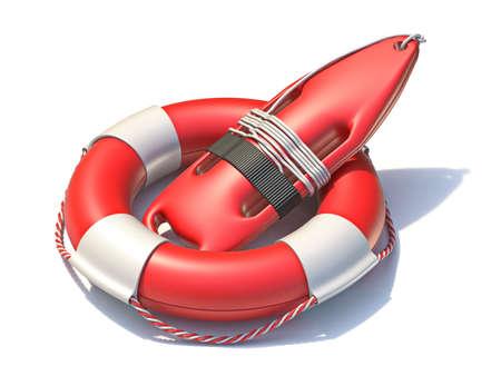 Lifeguard professional lifebuoys 3D rendering illustration isolated on white background Фото со стока
