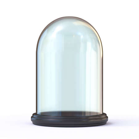 Empty glass dome 3D render illustration isolated on white background 写真素材