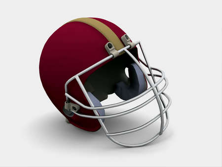 violence in sports: Football Helmet Stock Photo