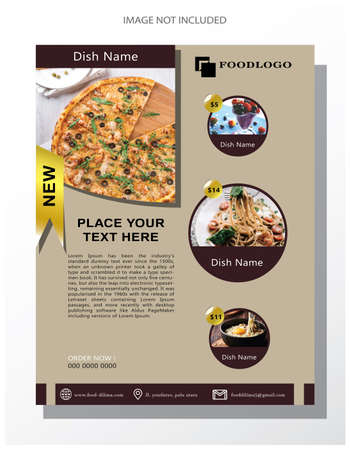 It has four sides with three menus laid at a price and one recent menu. Illustration