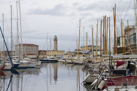 view of the marina in Trieste Redakční