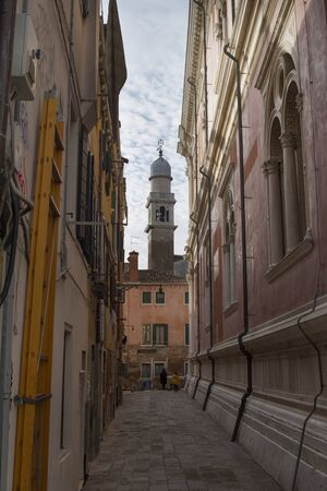 streets of Venice, view of the San Pantalon Tower