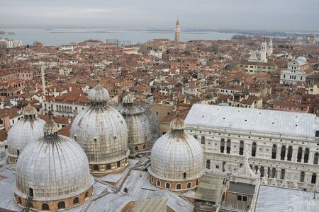 view of Venice from the tower in St. Marks Square Redakční