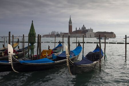 view of Church of San Giorgio Maggiore, winter time