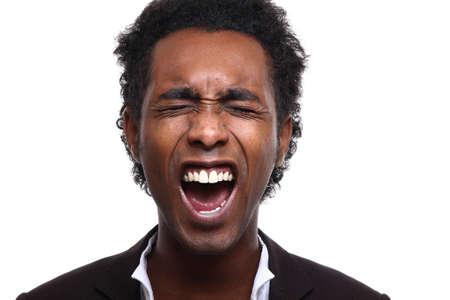 portrait of a happy man Imagens