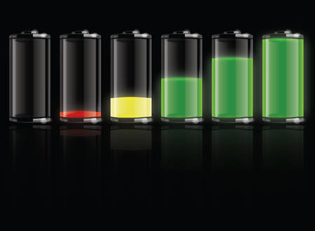 button batteries: Battery set   Illustration