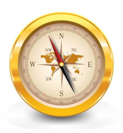 Golden compass Illustration