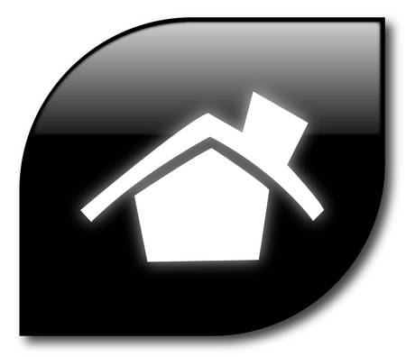 Black home sign vector