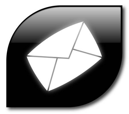 Black mail button vector
