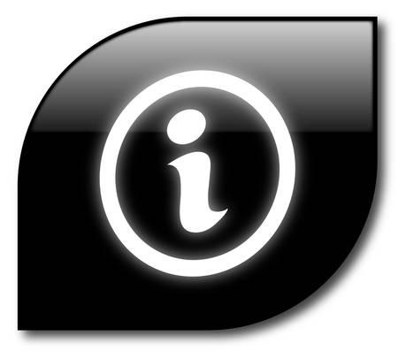 Black informatinon button Stock Vector - 8034166