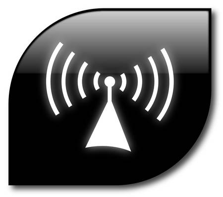 Botón inalámbrica negro