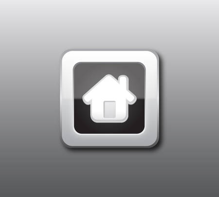 small tools: Black home button vector