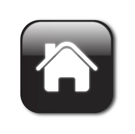 Black home button vector