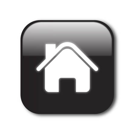 my home: Black home button vector