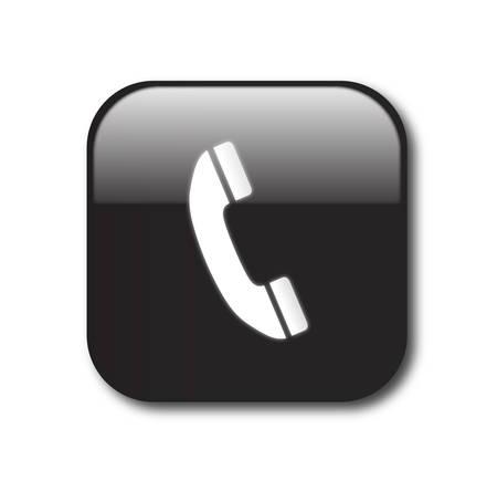 Black telephone sign