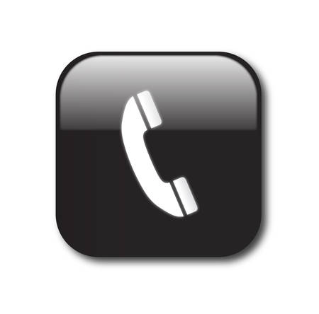 black phone and call: Black telephone sign