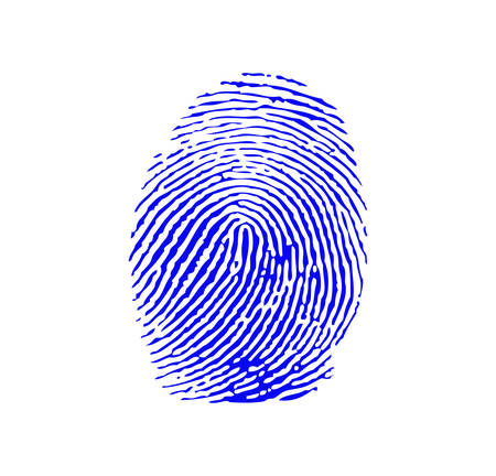 impressions: Blue fingerprint Illustration