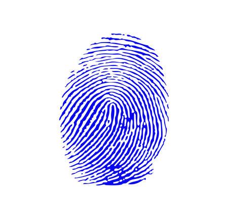 Blue fingerprint Ilustração