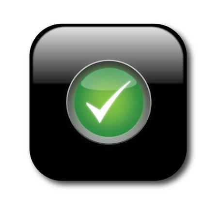 Check button Stock Vector - 8069387