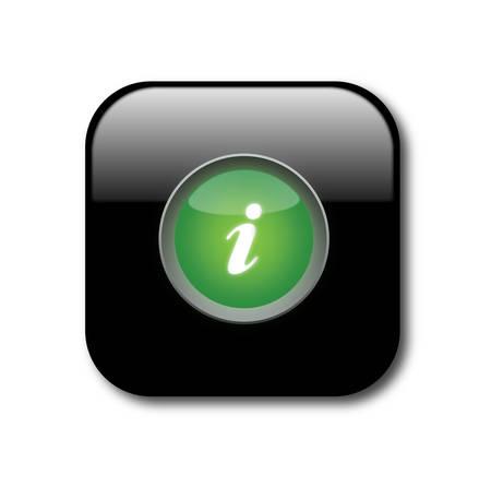 Information button Stock Vector - 8069386