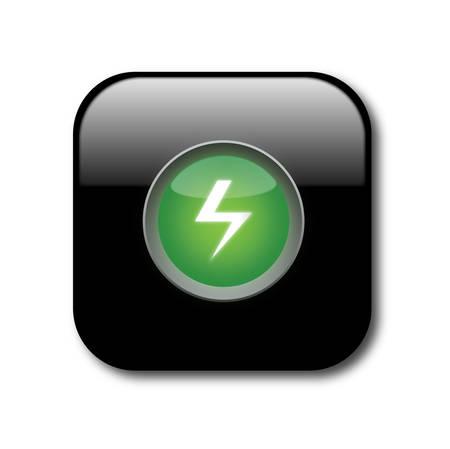 Black power button Stock Vector - 8141097