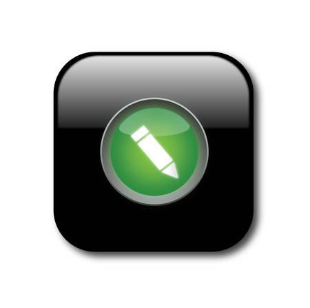 Black sign button Stock Vector - 8141095