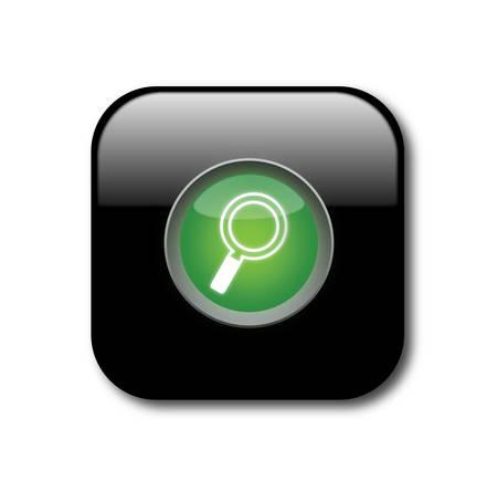 Black search button  Illustration