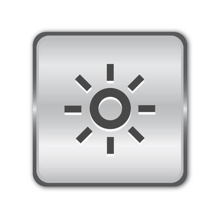 Chrome brightness button Stock Vector - 8141110