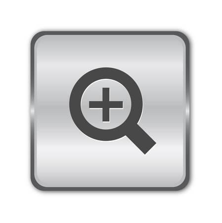 Zoom de chrome dans le bouton  Vecteurs