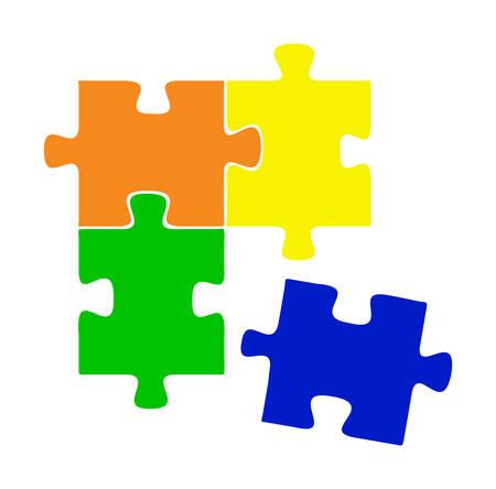 Colore puzzle vector Stock Vector - 8273065