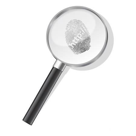 Detectives magnifier with http fingerprint Stock Vector - 8273109