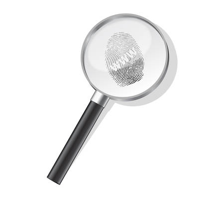 Detectives magnifier with www fingerprint Vector