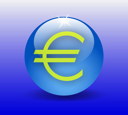 euro teken: Euro teken vector Stock Illustratie