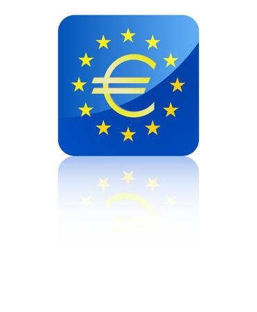 euro teken: Europunion met euro symbool