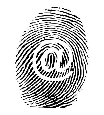 investigating: Fingerprint with @ sign
