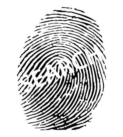 Fingerprint search. Stock Vector - 8273062