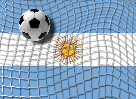 dribbling: Football Argentina Illustration