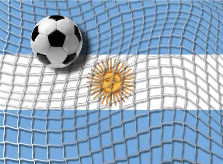 soccer net: Football Argentina Illustration