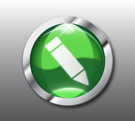 Green sign button  Stock Vector - 8509367