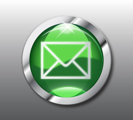 Green mail button  Vector