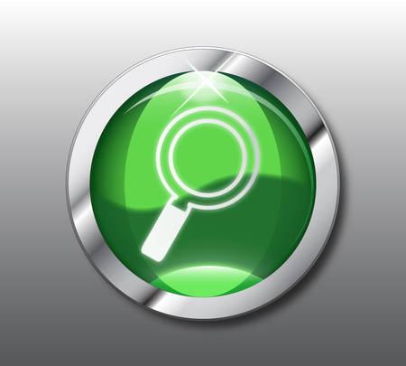 search button: Green search button  Illustration